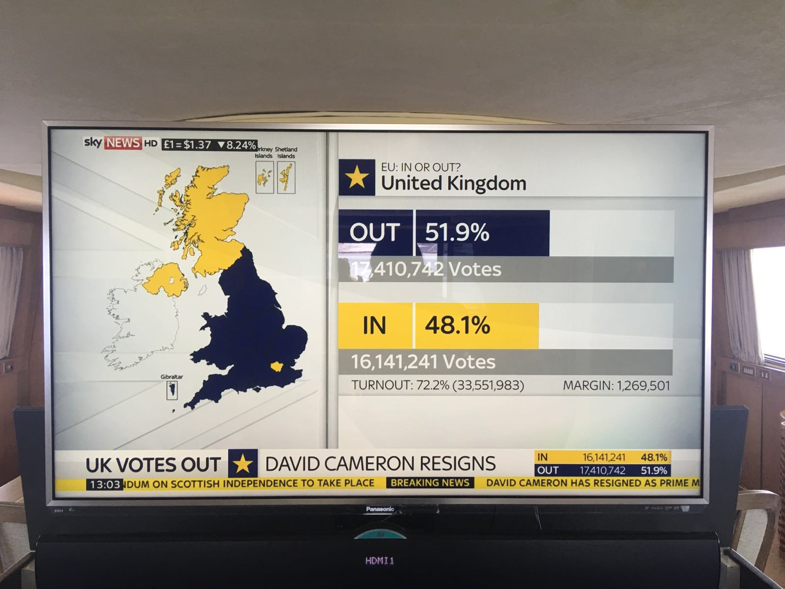 Britain votes out of the EU