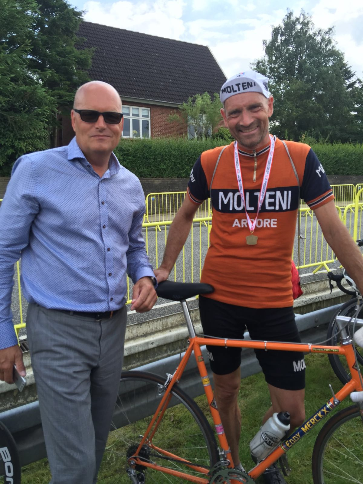 Bjarne Riis chatting with Moltene