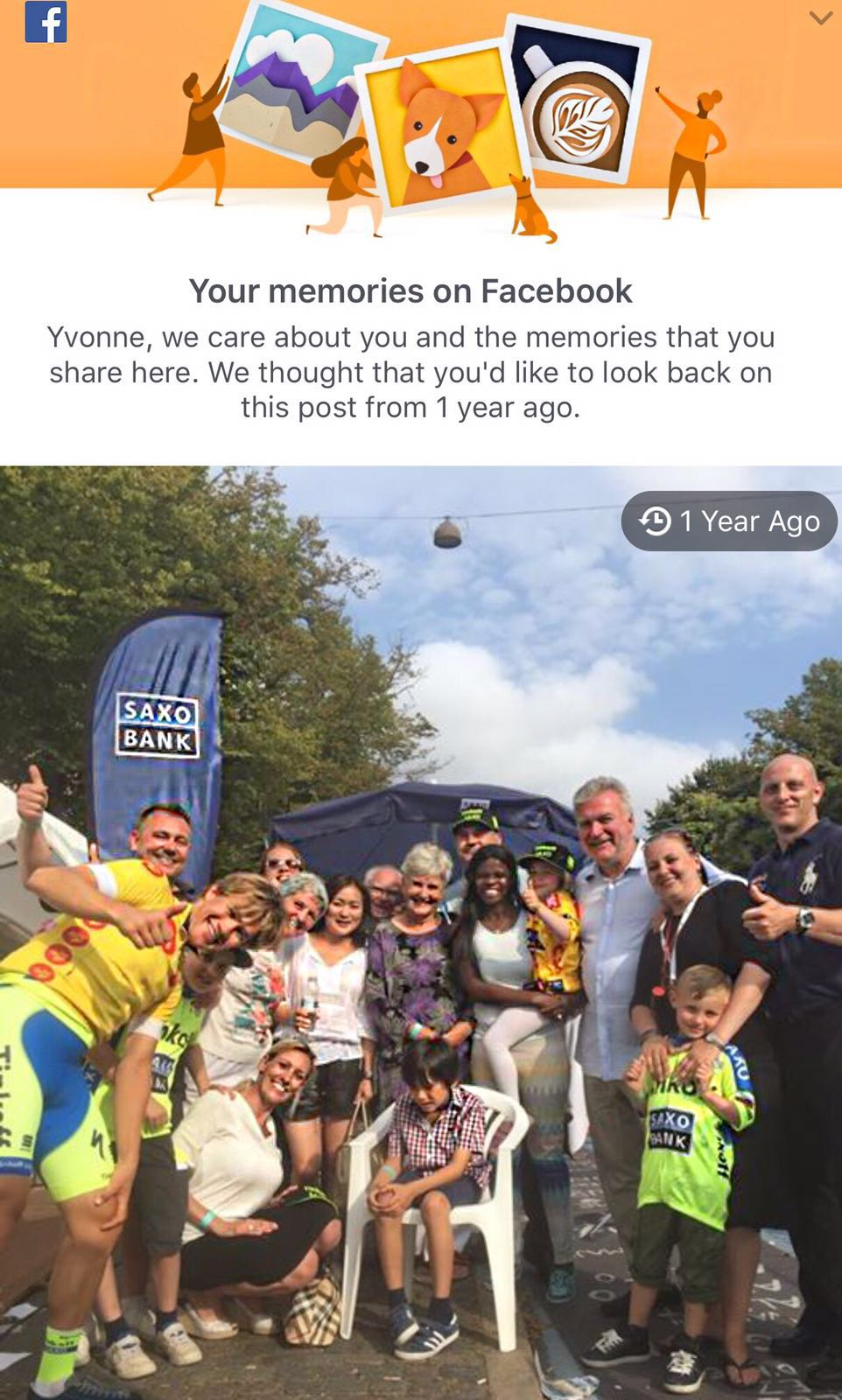 YSCLIFE One year FB memory August 2015